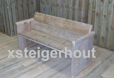 Tuinbank xsteigerhout for Bouwpakket steigerhout
