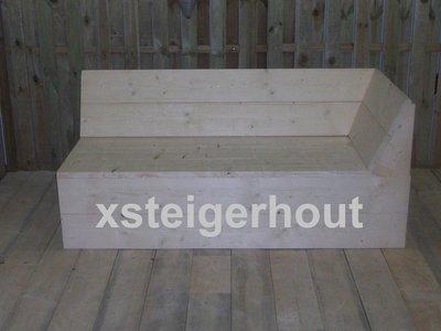 Startstuk hoekbank xsteigerhout for Bouwpakket steigerhout
