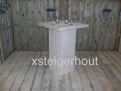 Statafel xsteigerhout for Bouwpakket steigerhout