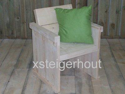 Tuinstoel xsteigerhout for Tuintafel steigerhout bouwpakket