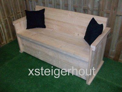 Kleptuinbank xsteigerhout for Bouwpakket steigerhout