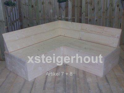 Hoekbank 7 8 xsteigerhout for Bouwpakket steigerhout